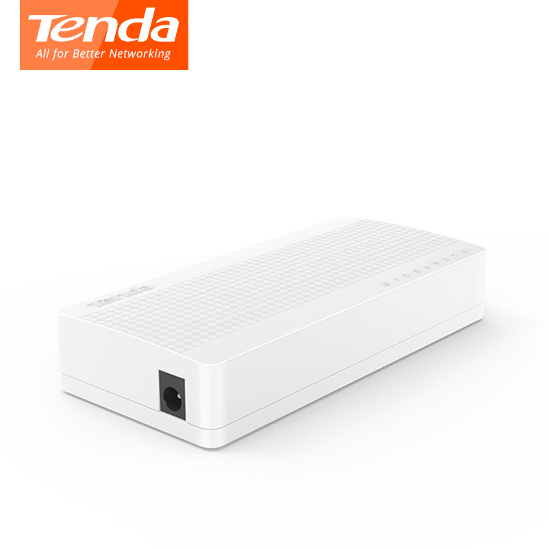 Tenda S108 Ethernet Switch desktop switch 8*10100 Mbps RJ45 ports network switchs LAN Hub Small and Smart plug and play