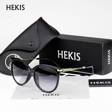 HEKIS Brand designer 2017 Cat Eye Sunglasses Women Oculos de sol Points Glasses Female eyewear Women's shades D1715