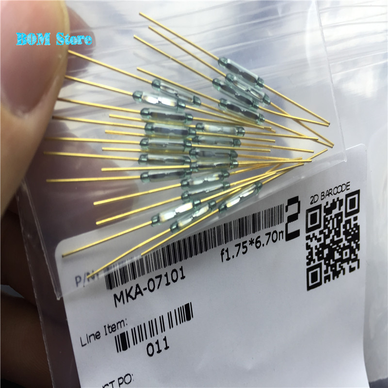 10pcs/lot Reed Switch 2.5X14MM magnetic switch GLASS Green 3 pin Reed Switch Normally Open and Normally Close Conv Free shipping reed krakoff ботинки