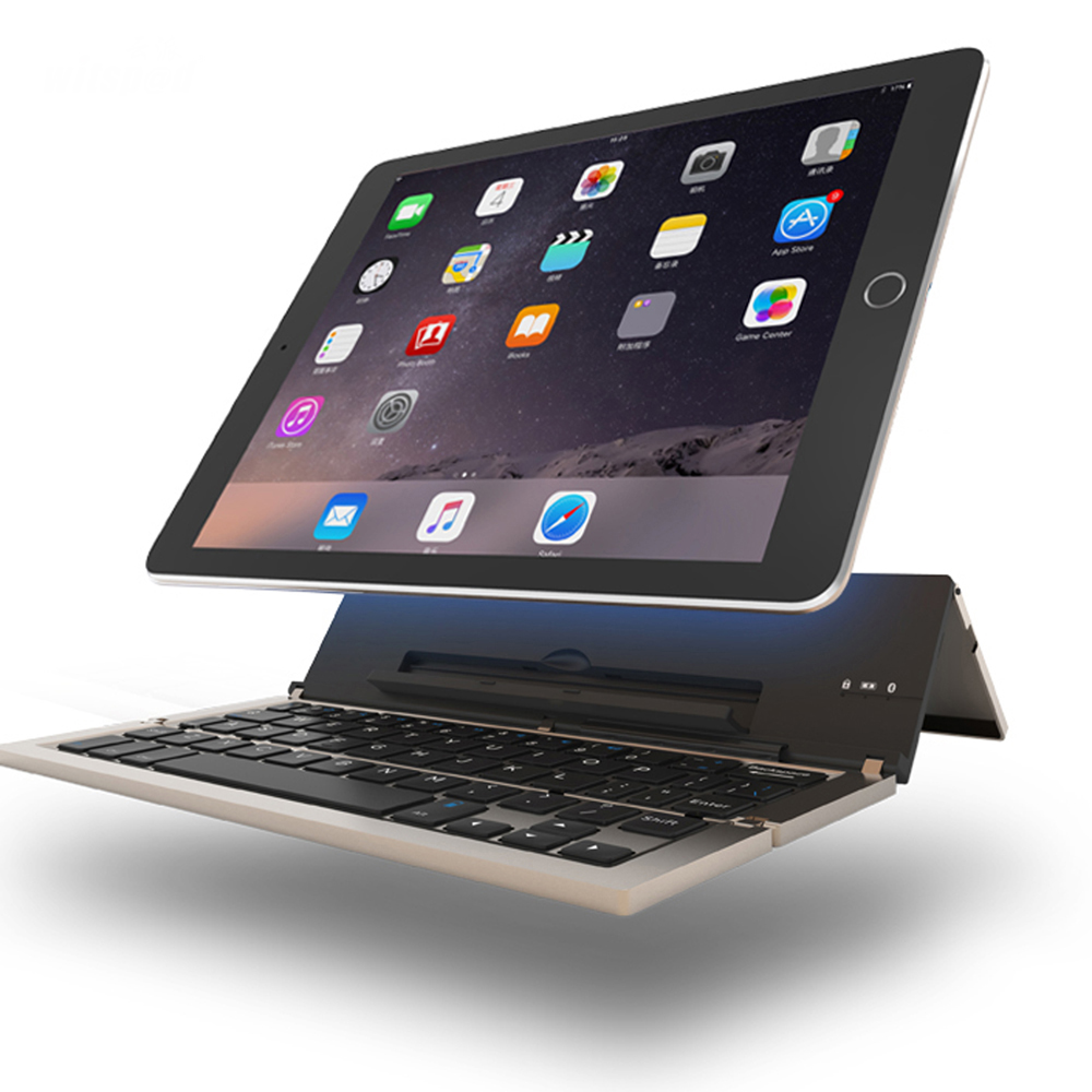 witsp @ d Universal Metal Qatlanan Bluetooth Klaviatura, Android IOS - Planşet aksesuarları - Fotoqrafiya 1