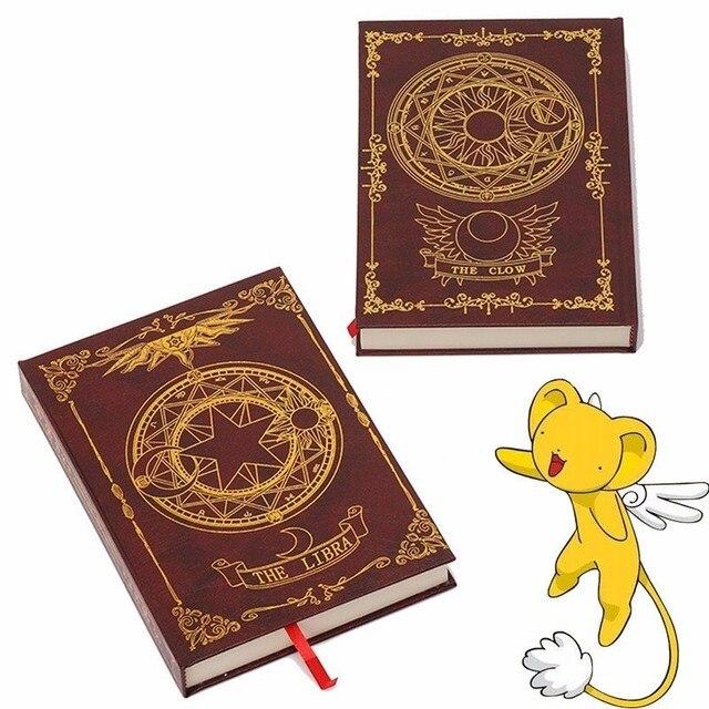 Caderno mágico de animes sakura cerberus, padrão de estrela de palhaço, livro de diário para presente para amigos