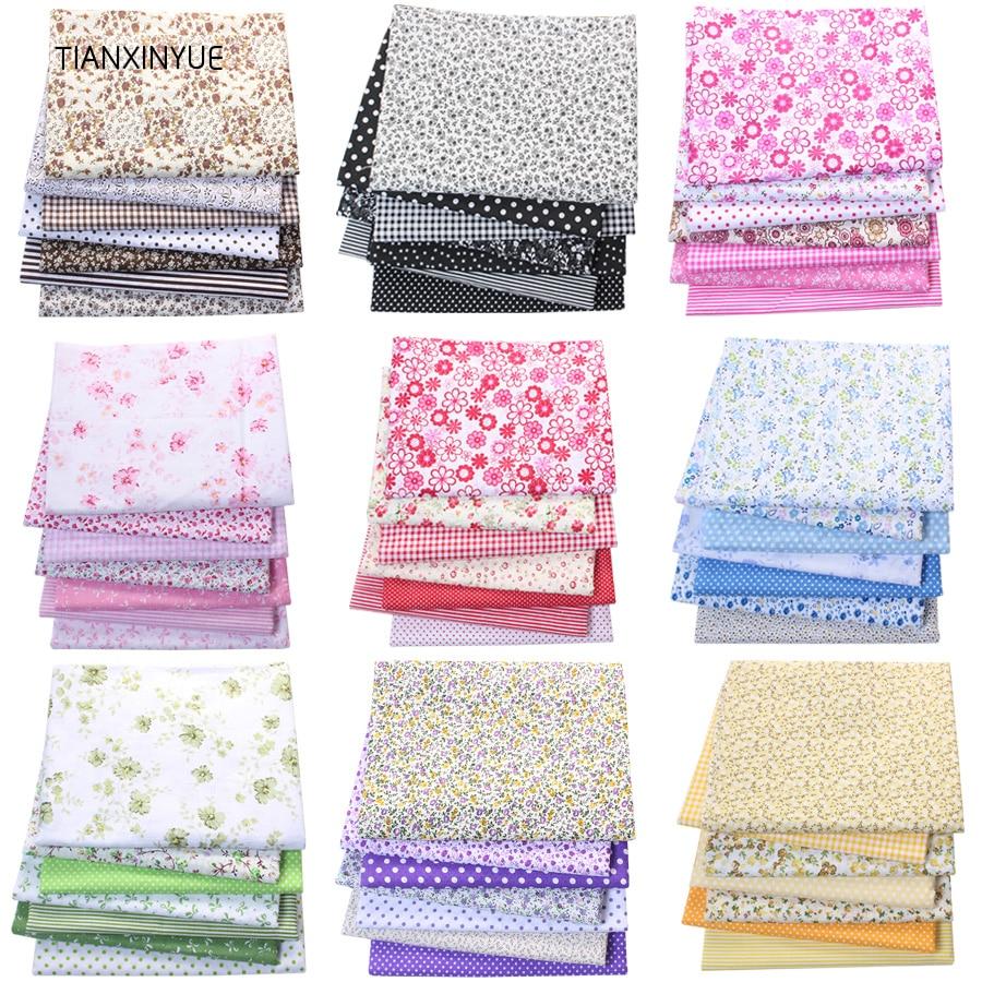 TIANXINYUE Многоцветный 100% хлопковые стеганые одеяла ткань для шитья Лоскутные детские сумки детские игрушки DIY ткань