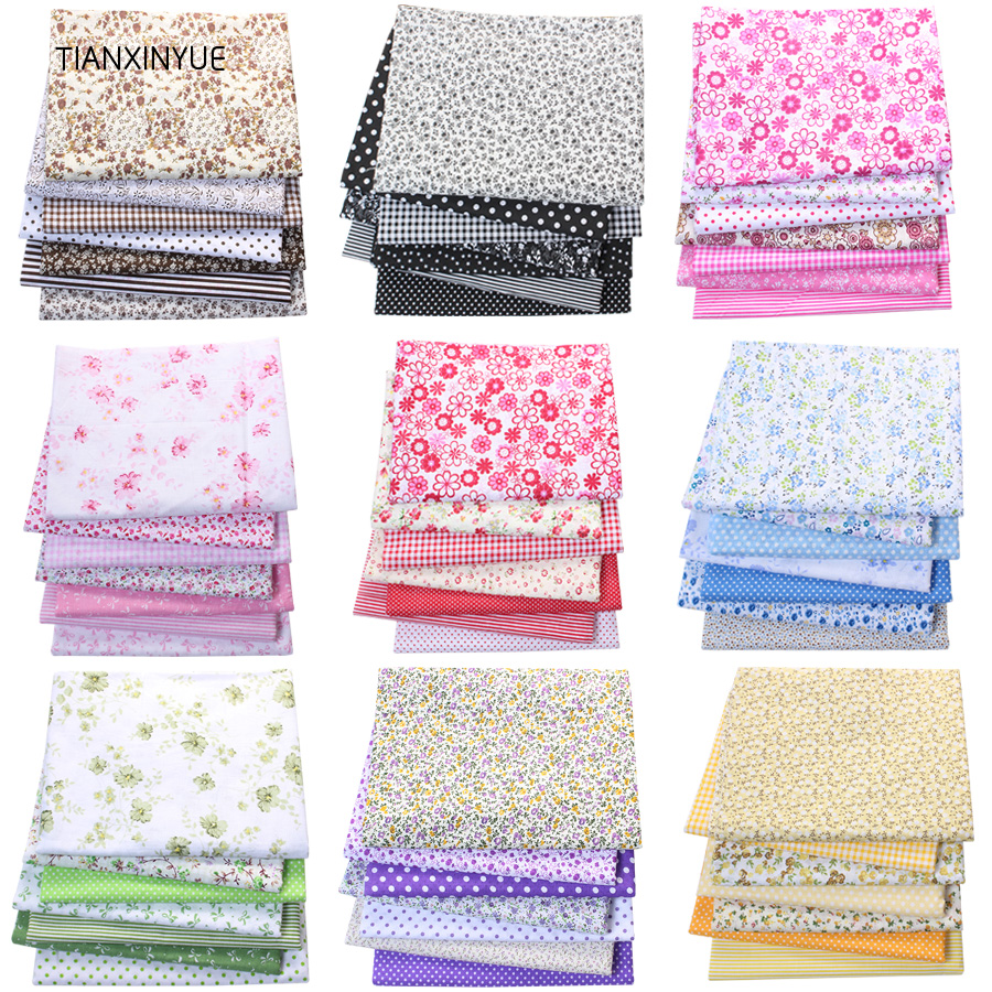 TIANXINYUE Multicolor 100% Cotton Quilts Fabric For Sewing Patchwork Kids Bags Baby Toy DIY Fabric