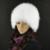 Genuíno chapéu de pele de raposa pele das mulheres de inverno malha chapéus de pele de raposa de prata caps feminino russo bomer caps