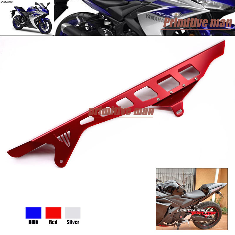 ФОТО For YAMAHA YZFR25 YZFR3 YZF-R25 YZF-R3 Motorcycle Accessories Rear Chain Guard Swingarm Cover Red