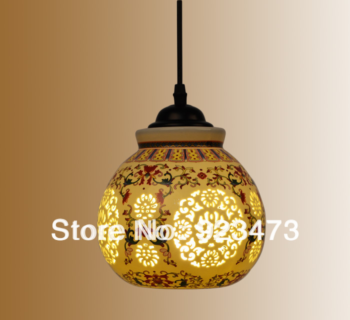 Wholesale new free shipping vintage ceramic chandeliers chinese wholesale new free shipping vintage ceramic chandeliers chinese style ceramic pendant lamp for home living room classical light in pendant lights from aloadofball Gallery