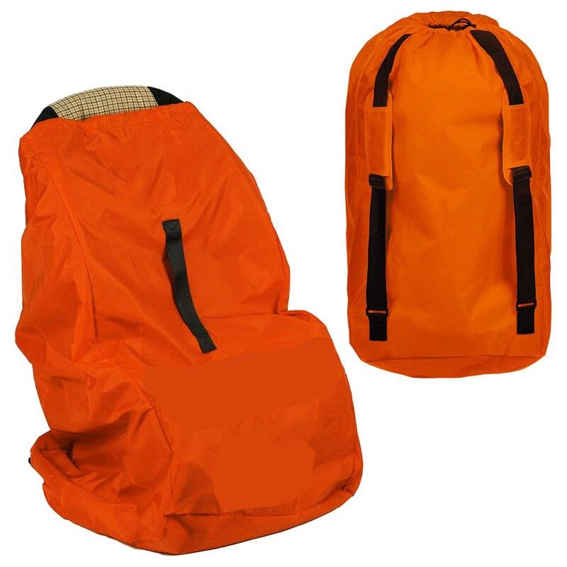 Дорожная сумка для автомобильных сидений-облегчает путешествие и экономит деньги. Carseat Carrier для аэропорта-защитите сиденья и коляску вашего ребенка - Цвет: Orange