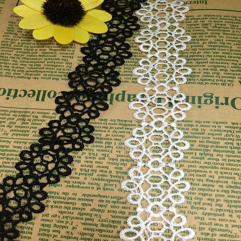 ⓪Envío libre! 3.5 cm nueva flor patrón bordado Encaje applique DIY ...