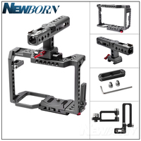 WARAXE GH5 Kit Camera Video Cage & Handle Grip for Panasonic GH5 GH4 DSLR Camera,Built in Quick Release Fits Arca Swiss