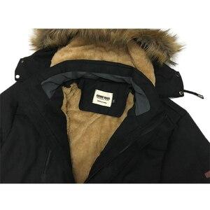 Image 4 - Kosmo masa 2018 algodão com capuz jaqueta de inverno masculino quente 6xl longo parka casacos com capuz homem casacos de pele casual para baixo parkas mp012