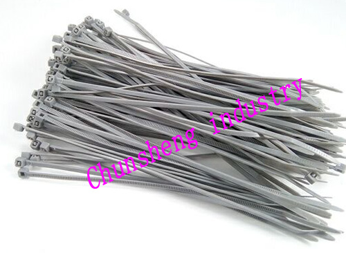 2015 new 200pcs Grey color 8 2.0x200mm Network Nylon Plastic Cable Wire Zip Tie Cord Strap bundle cable velcro nylon cable tie strap random color 5 piece