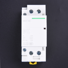 220-240V AC coil 35mm DIN rail support 2 poles 40A contactor