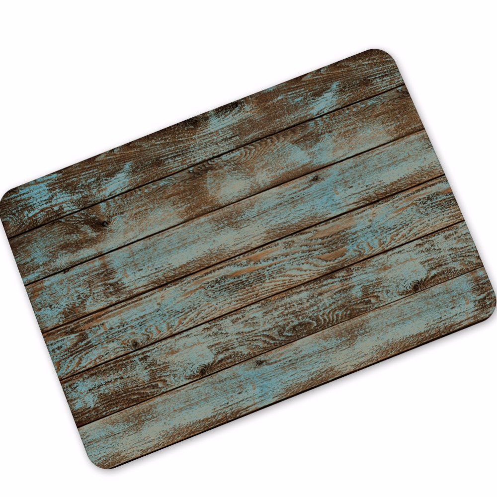 Natural Rubber Material Stripe / Floor / Anchor / Trunk / Stars Pattern 3D Rug Rectangle Non Slip Doormat Toilet Kitchen Rug
