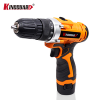 12V Cordless Screwdriver Electric Drill Two Speed Rechargeable Lithium Battery Waterproof Hand LED Light
