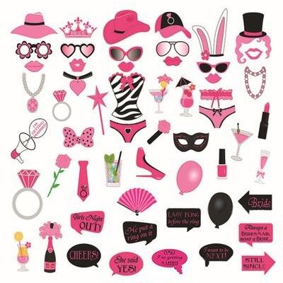 56 Stks Grappig Bunny Girl Vrijgezellenfeest Bruiloft Eve Bruid Worden  Enkele Meisjes Vrijgezellenfeest Bikini Photo Booth Props Photobooth In 56  Stks ...