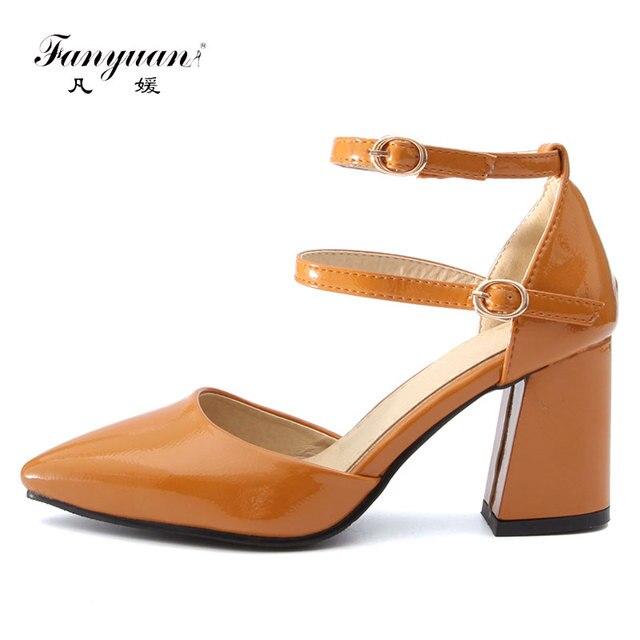 4ba2b9fdb Fanyuan plus size 32-46 femininos Zapatos Mujer mulheres bombas sapatas Das  Senhoras sapatos de