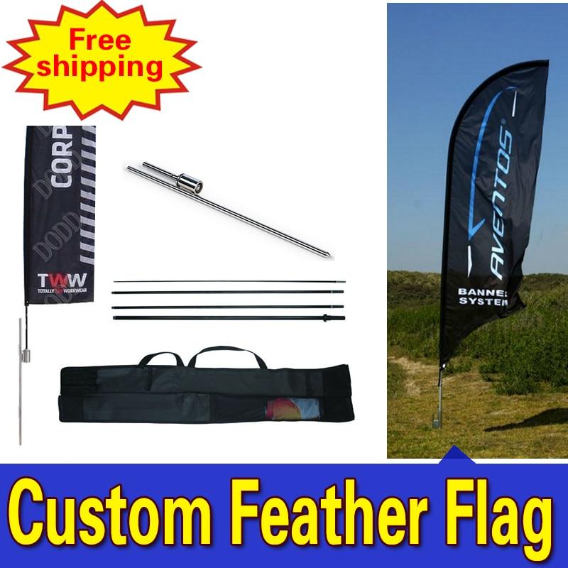 80cm * 410cm ENVÍO GRATIS Banderas de plumas con Spike Inground - Decoración del hogar