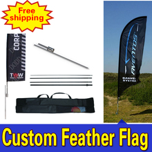 80cm*410cm FREE SHIPPING Feather Flags with Spike Inground Single Sided Printing for Outdoor Advertising
