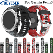 цена на 26mm Watch Strap for Garmin Fenix 5X 5X Plus Watch Band Outdoor Sport Silicone Watchband for Garmin Fenix 3 3 HR Strap Bracelet