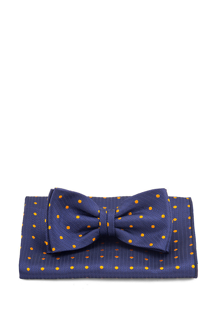 [Available from 10.11] Bow tie male handkerchief CARPENTER Carpenter poly 2 blue 710 1 106 Blue
