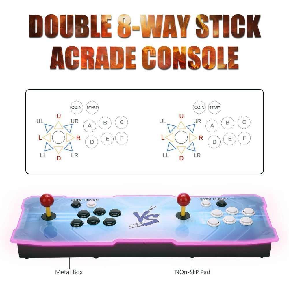 Pandora Harta Karun II Arcade Konsol 2650 Game HD 1920X1080 P Pencarian Menyimpan Permainan Dukungan 3D Permainan Dukungan 4 Pemain Line