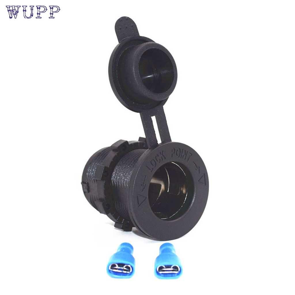 1pcs Auto Car Cigarette Lighter Socket 12V Waterproof Car Boat Motorcycle Cigarette Lighter Sockets Splitter Power Plug Outlet