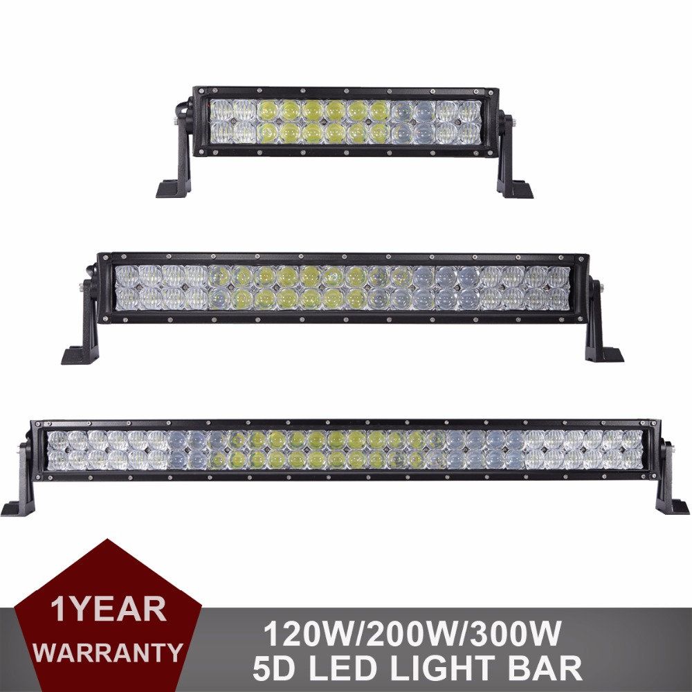 120W 200W 300W 14 22 32'' 5D Offroad LED Light Bar Auto Car Truck Trailer Boat Tractor Pickup SUV ATV 4WD Wagon Combo Headlight 20 126w offroad led light bar 12v 24v car pickup auto truck boat tractor atv awd 4x4 4wd trailer yacht wagon driving headlamp