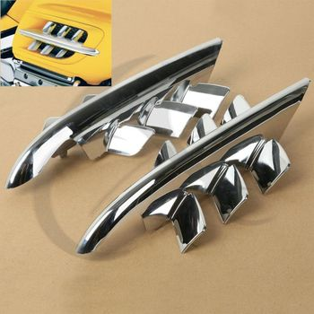 Chrome Shark Gills Fairing Accents For Honda Goldwing GL1800 2001-2010 07 08 09
