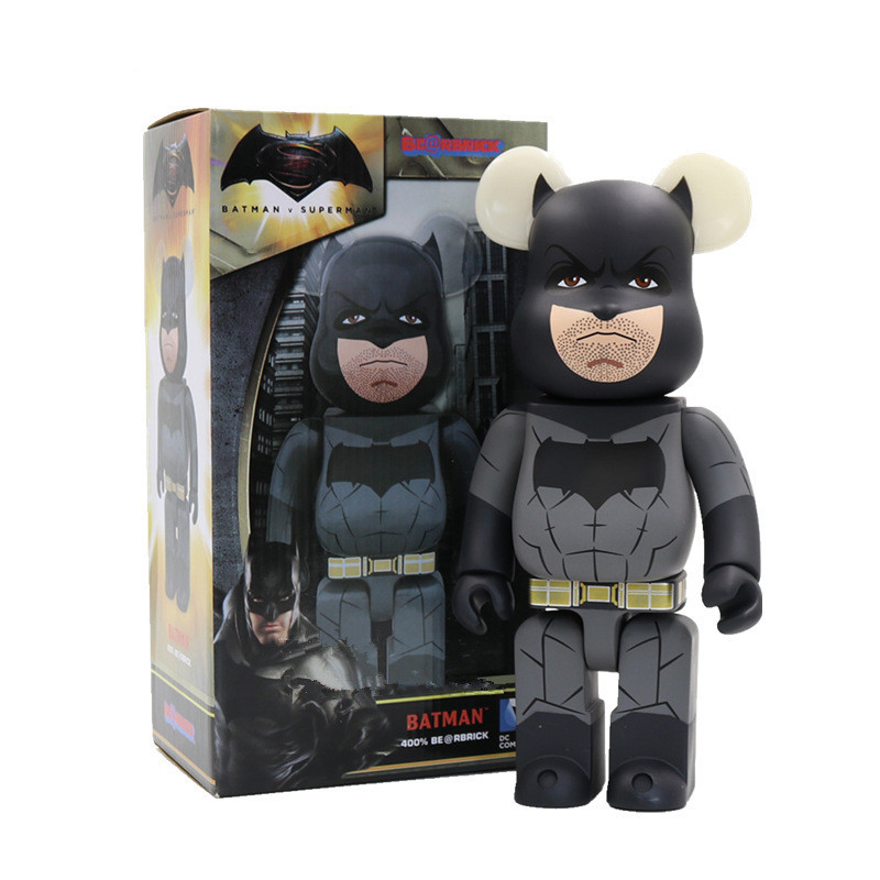 Batman Bearbrick Action Figure 400% Be@rbrick Cos Batman Doll PVC ACGN figure Toy Brinquedos Anime 28CM hot selling oversize 1000% bearbrick luxury lady ch be rbrick medicom toy 52cm zy503