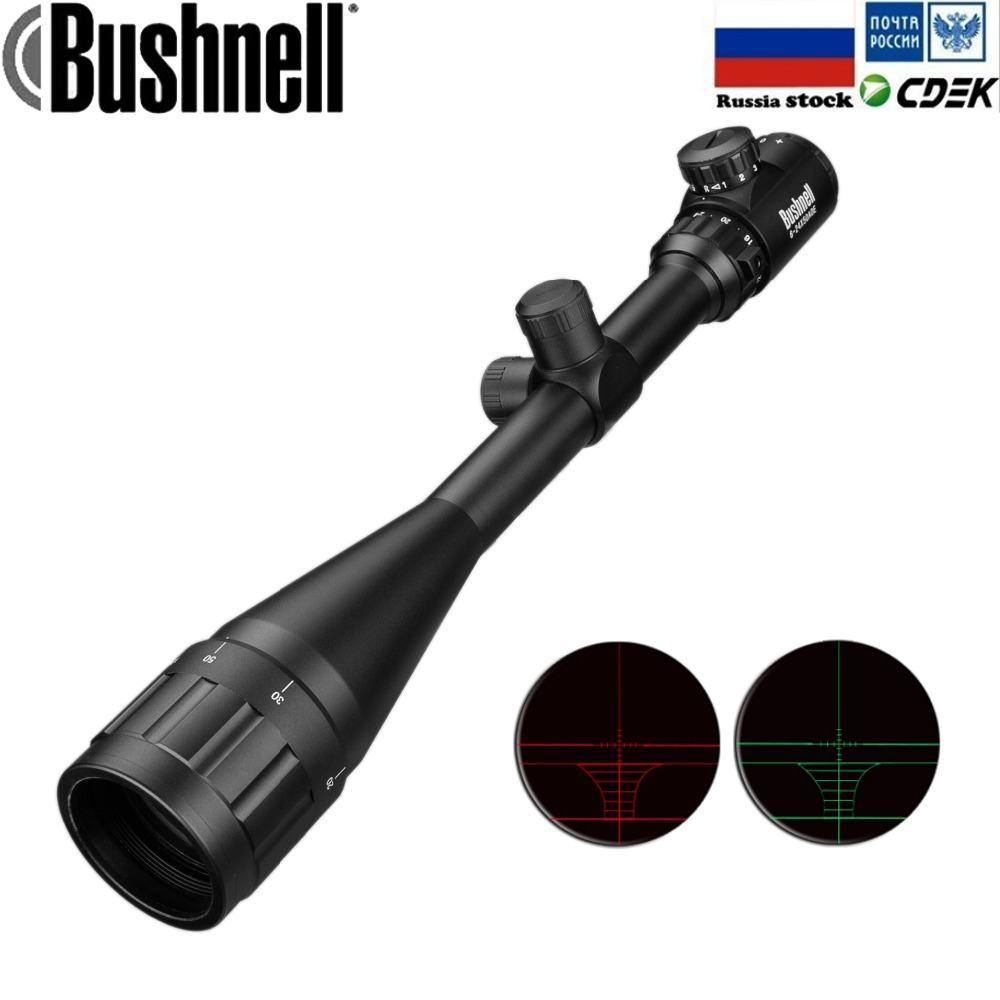 6-24x50 Aoe de Tir Réglable Vert Rouge Dot Chasse Lumière Tactique Portée Réticule Rifle Optique Portée
