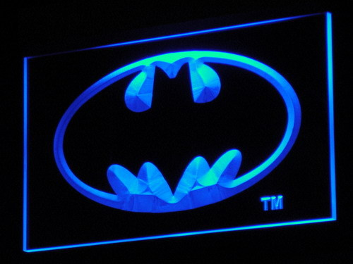 g001 Hero Batman Man Cave LED Neon Sign 20+ Colors 5 Sizes sent in 24 hrs