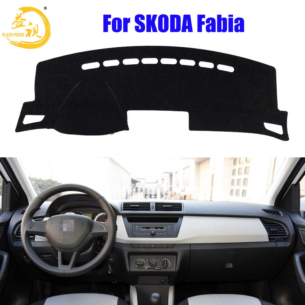 Easysee Dashboard Cover Pad Dashmat Dash Mat Sun Shade Dash Board Cover Carpet For SKODA New Fabia Dust proof