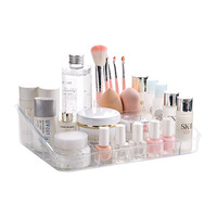 1pcs Fashion Practical Cosmetic Container Transparent Acrylic Makeup Organizer Stationery Organizer Storage Container Box