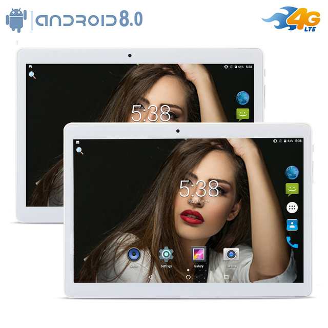 New DHL Free 10 inch Android 8.0 Octa Core 1280*800 IPS Wifi 3G/4G LTE Phone Call MT8752 Dual SIM card 4GB RAM 32/64GB ROM+Gifts