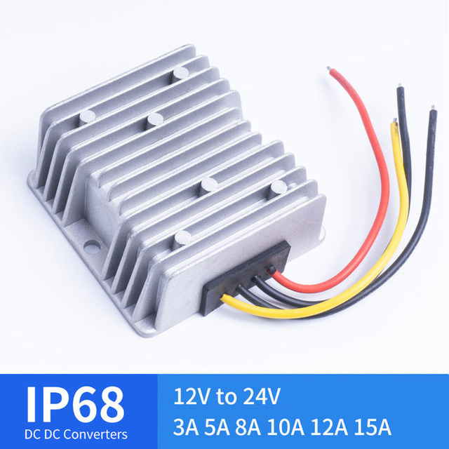DC DC 12V TO 24V 3A 5A 8A 10A 12A 15A Boost Converter for Automotive Solar Voltage Regulators