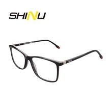 SHINU מותג משקפי מתקדמת Multifocal משקפי קריאת Diopter משקפיים לקרוב ורחוק מרחק אצטט אופטי משקפיים