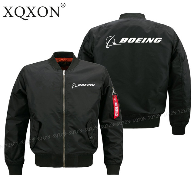 XQXON-2019 new printed Boeing aircraft logo design men Coats Jackets Autumn winter pilot man jacket S-6XL J321