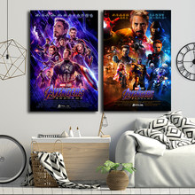 Avengers Endgame Poster Marvel Super Heroes Movies 4 Canvas Painting Captain America Picture for Living Room Wall Art Home Decor(China)