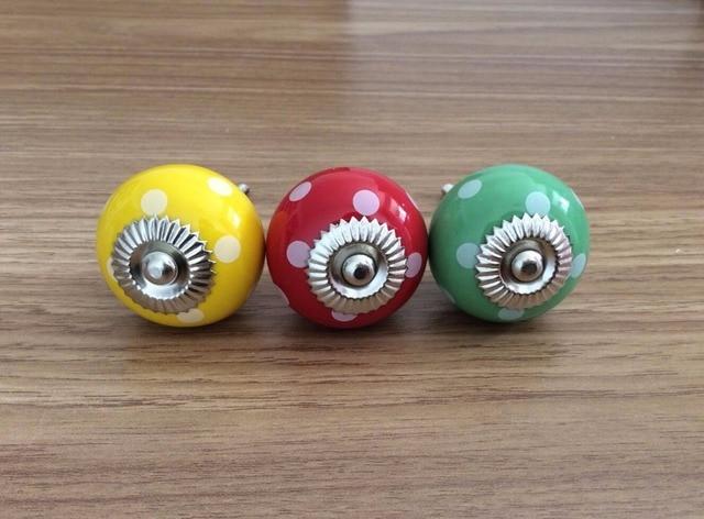 En Céramique Boutons Dresser Coloré Piont Bouton TiroirArmoire Tire - Boutons de porte