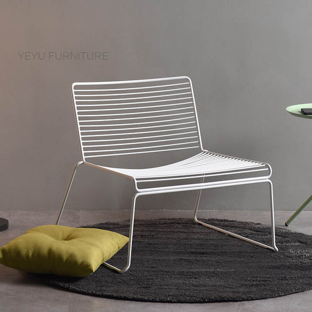 Peachy Us 249 0 Nordic Studio Wire Hee Chair Modern Classic Loft Metal Outdoor Lounge Chair Stackable Harry Bertoia Steel Leisure Chair No Pad In Living Creativecarmelina Interior Chair Design Creativecarmelinacom