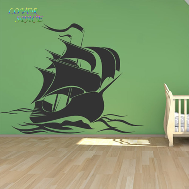 Pirate Ship Wall Stickers Pirate Wall Decal Art Wall Sticker For Kids Room  Home Decor LP58145 In Wall Stickers From Home U0026 Garden On Aliexpress.com ...