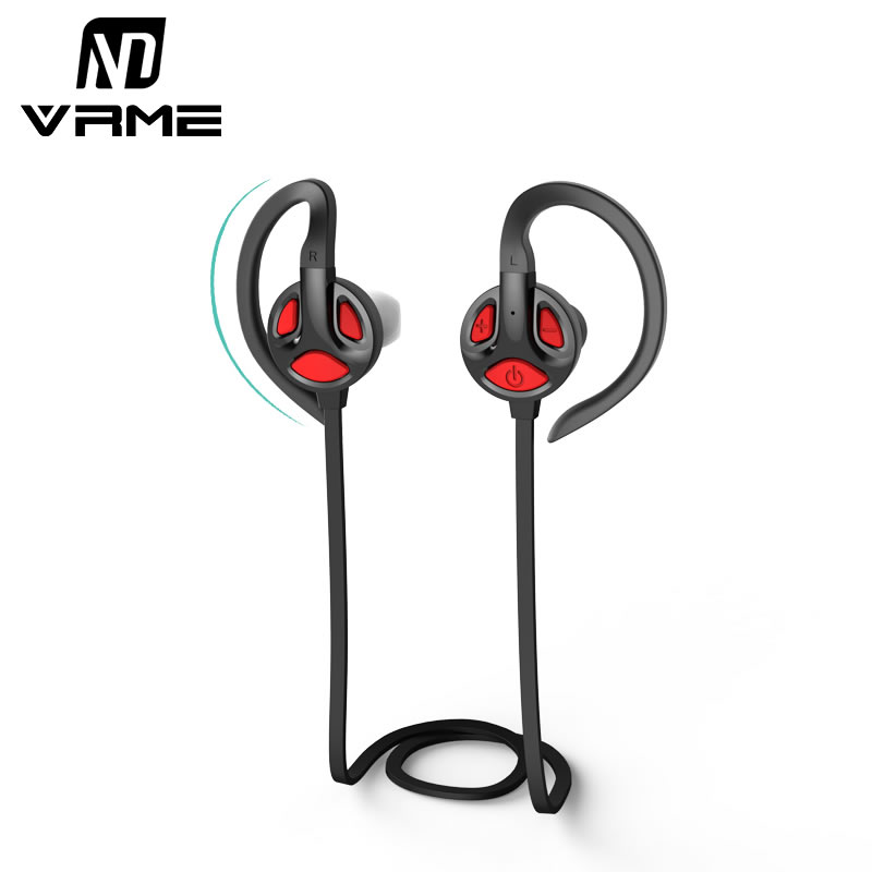 Vrme Bluetooth Headphones Voice Control Wireless Bluetooth Headset Sport Earbuds Stereo Earphone Build-in Mic For Xiaomi Android
