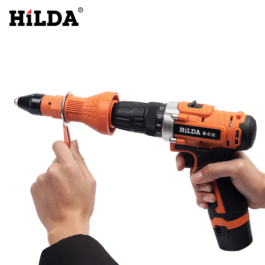 Image 5 - HILDA Electric Rivet Nut Gun Riveting Tool Cordless Riveting Drill Adaptor Insert Nut Tool Riveting Drill Adapterdrill adapterdrill adaptorrivet adapter -