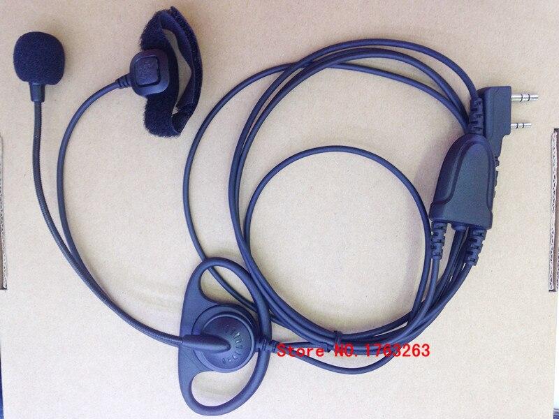 D shape earphone headphone MIC Finger PTT forKenwood BaoFeng UV5R WouXun PuXing TYT etc walkie talkie