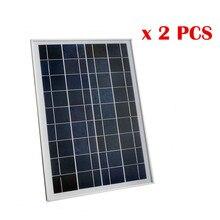 50W 2pcs 25W 18V Poly Polycrystalline Solar Panel for Charging 12V Battery 12V Solar System Car