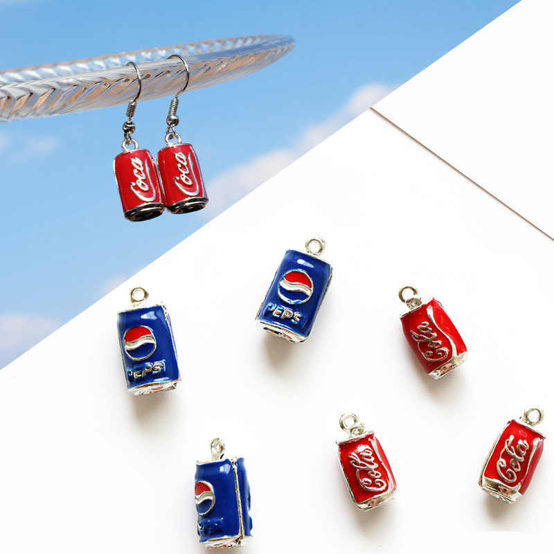 10pcs/lot Cola Drink Bottle Enamel Charms Drop Oil Alloy Pendants Beverage Floating DIY Earring Bracelet Jewelry Accessory YZ262