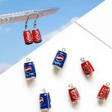 10pcs/lot Cola Drink Bottle Enamel Charms Drop Oil Alloy Pendants Beverage Floating DIY Earring Bracelet Jewelry Accessory YZ262(China)