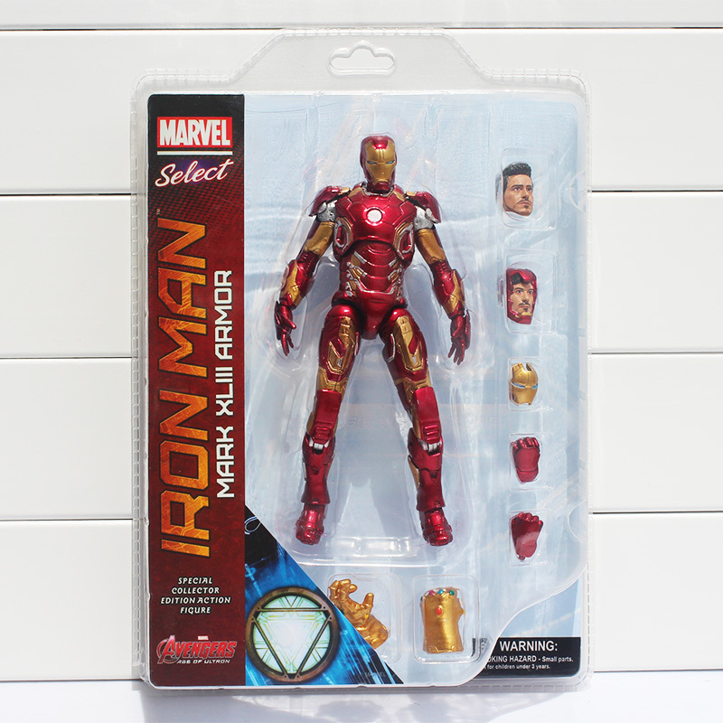 ФОТО Marvel Select Iron Man MK43 Mark XLIII Armor PVC Action Figure Collectible Model Toy 7