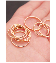 Hot sell han edition ring 10 sets female individual character combination contracted student is acted the role of article han edition acts the role of candy color round metal earrings