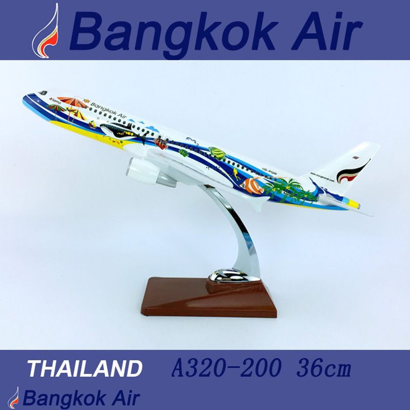 36CM 1 100 Airbus A320 200 model Thailand Bangkok airline with base alloy aircraft plane collectible